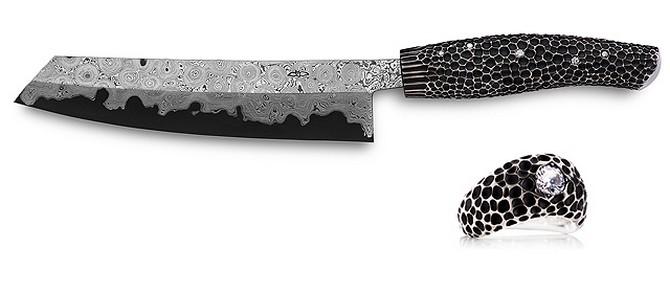 нож nesmuk с бриллиантами